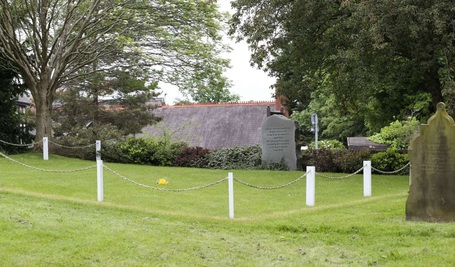 The Burial of Ashes plot in Northop Churchyard